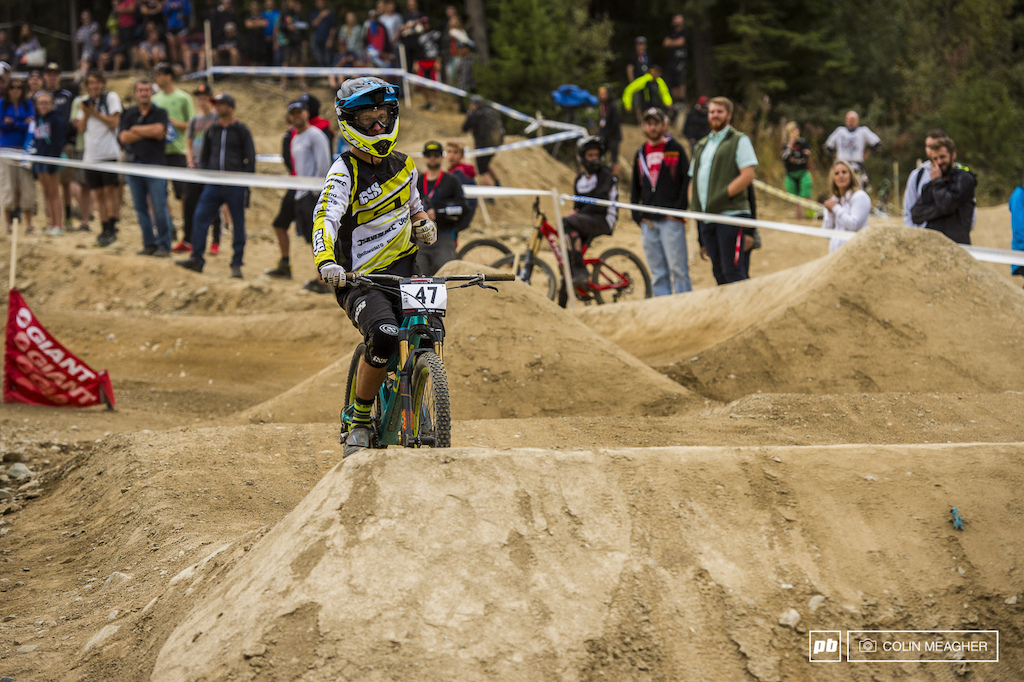 Pushing just a bit too hard in the big final saw Maes kiss the dirt--hard. He was sore enough from slapping that he opted out of the second heat of the final.