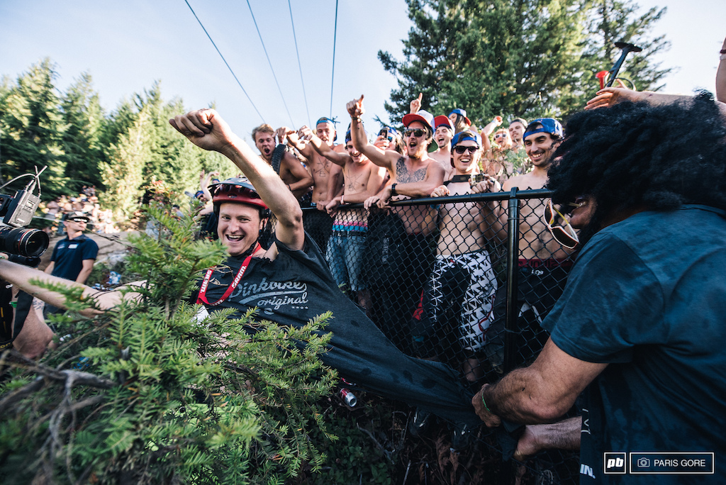 Connor McCloud wasn t following the shirts off on the rock orders and the hypocrite that Tippie is made sure it came off. That Pinkbike shirt will be coming out if his paycheck..