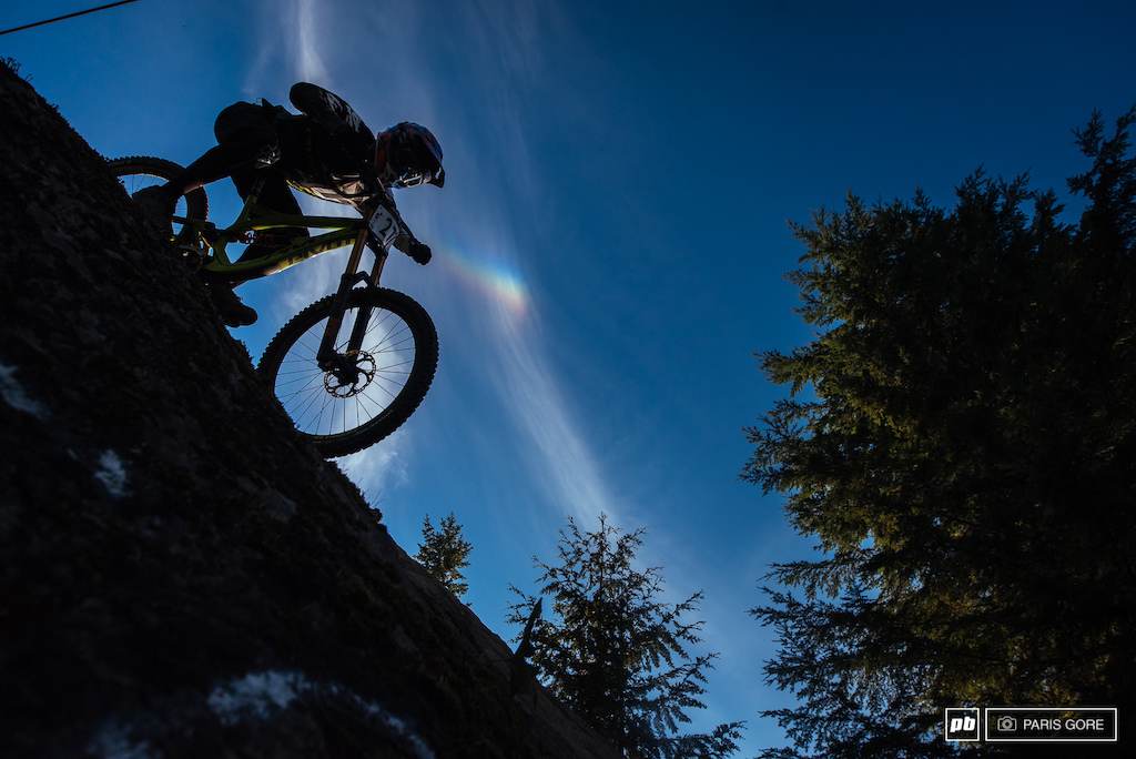 Elliot Jackson chasing rainbows in the skies.