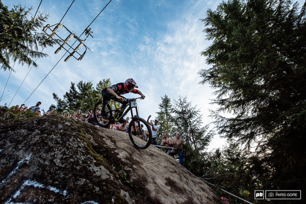 Sam Blenkinsop on his way to winning the overall DH.