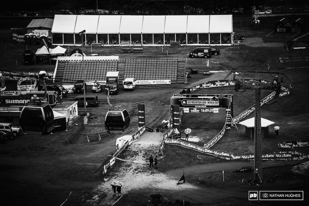 A baron race-scape ready to be transformed into a packed-out arena where history will be made. The 2015 WC season is all over come Saturday.