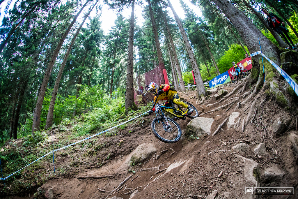 Loic Bruni was slaying it in the steeps today. He took third in qualifying. Will tomorrow finally be his day? It's going to be tight.
