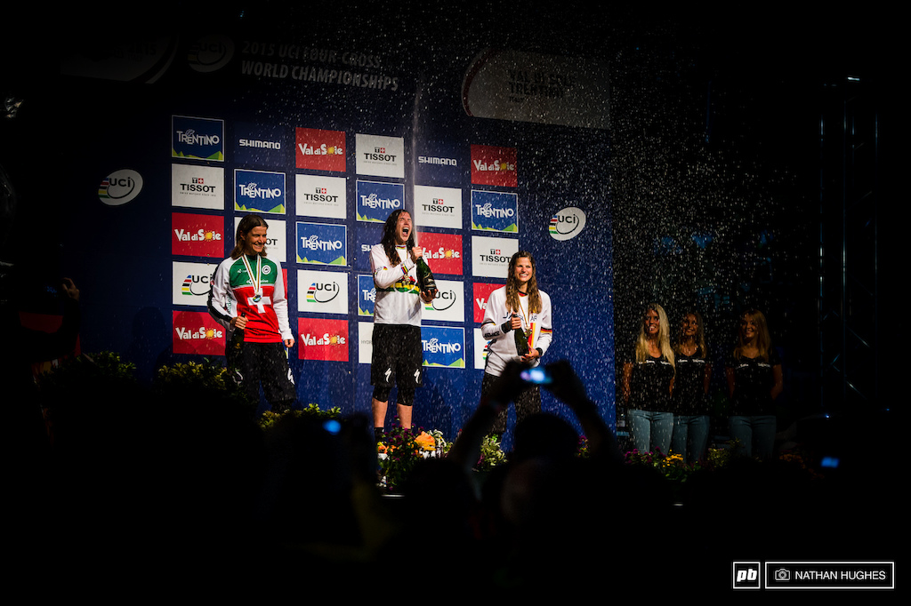 As if 25 000 at Crankworx wasn t enough Crankworx Queen and female bicycle prodigy Beerten banks another gold from the top step.