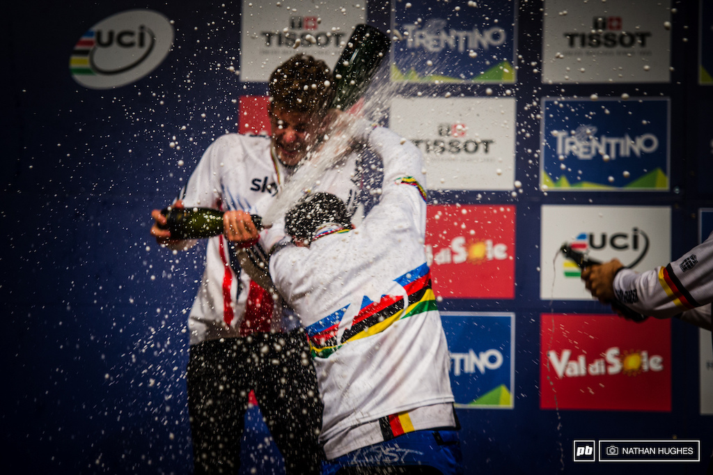 Cloudy with a chance of champagne showers... That s it that s all for Val di Sole 4X World Champs 2015.