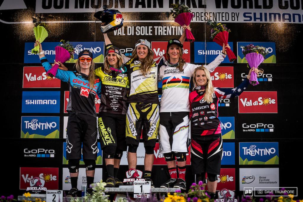 Women's podium.
