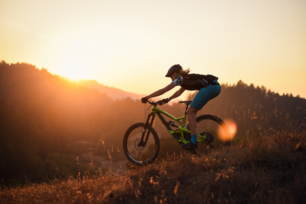 Scouting a new trail build payed off both with some great potential lines and some killer evening light.