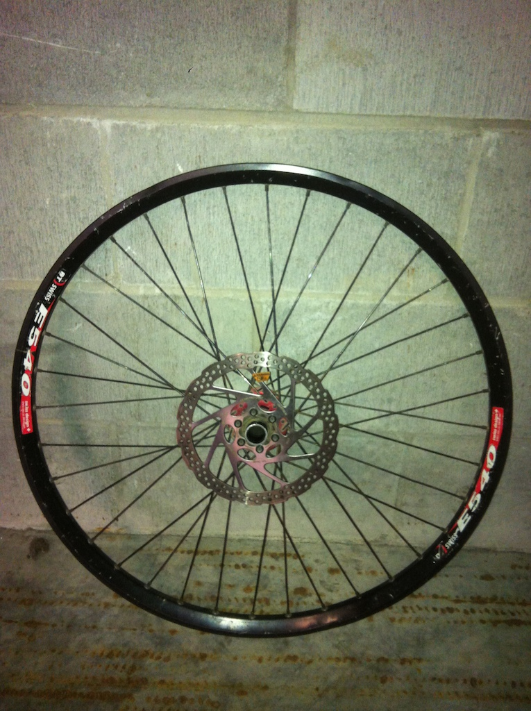 2007 DT swiss E540 on Specialized hub with rotor