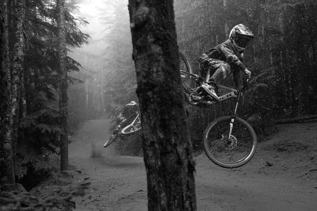 Thomas Vanderham, Finn Iles at Whistler Mountain Bike Park for the dirt blizzard segment of Unreal by Anthill films.