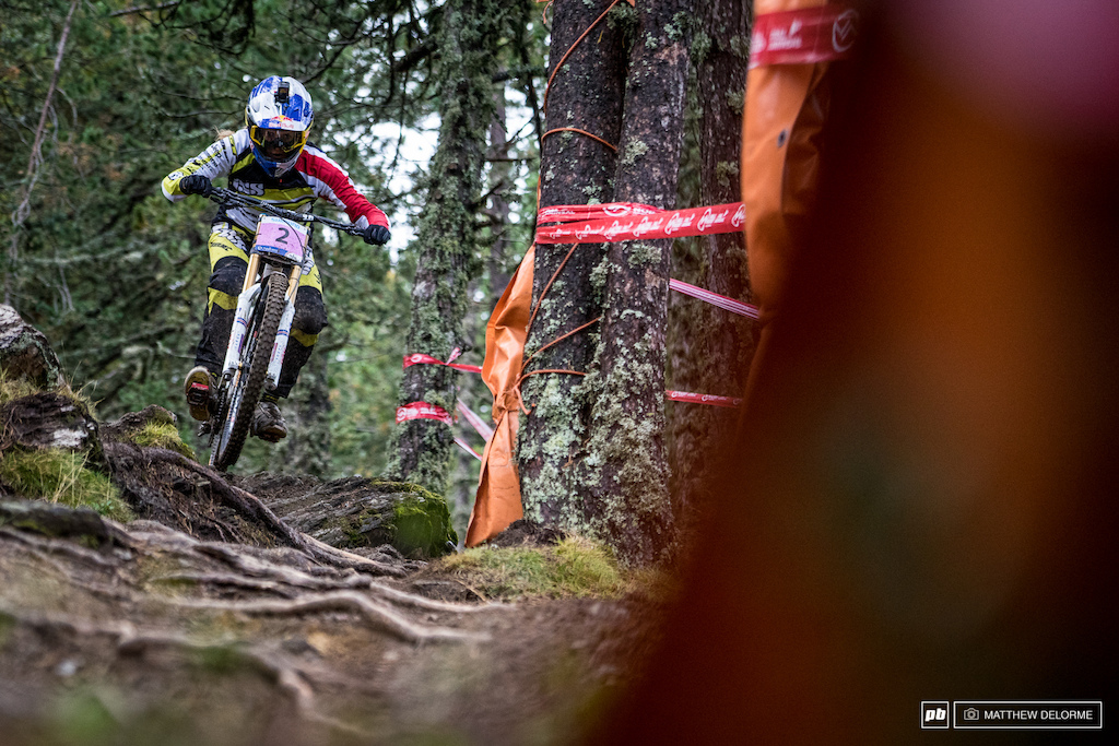 Rachel Atherton is on the hunt for another title.   Baring a major mishap it's hard not to see her on the top step.