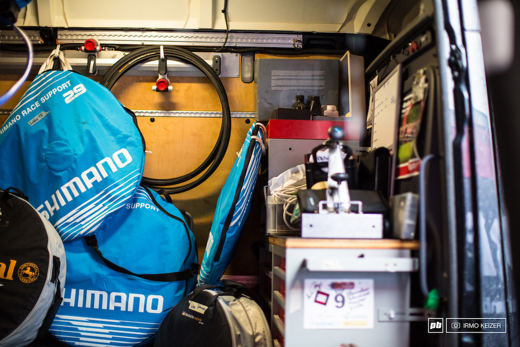 A van full of spares. BMC does take racing seriously.