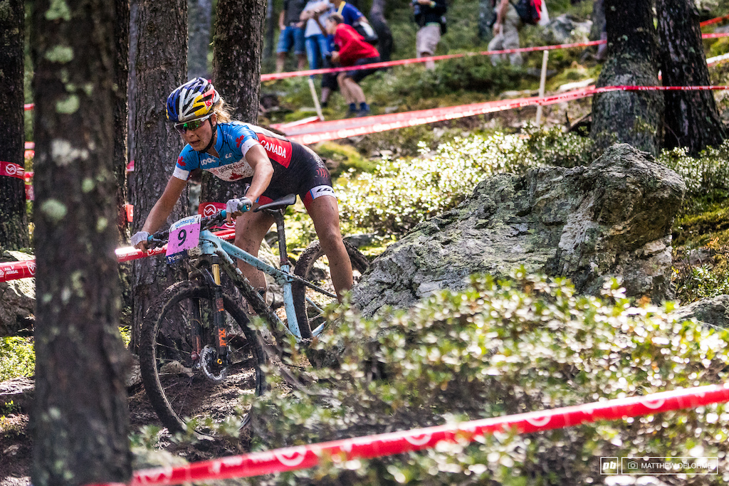 Emily Batty rode to seventh place today.