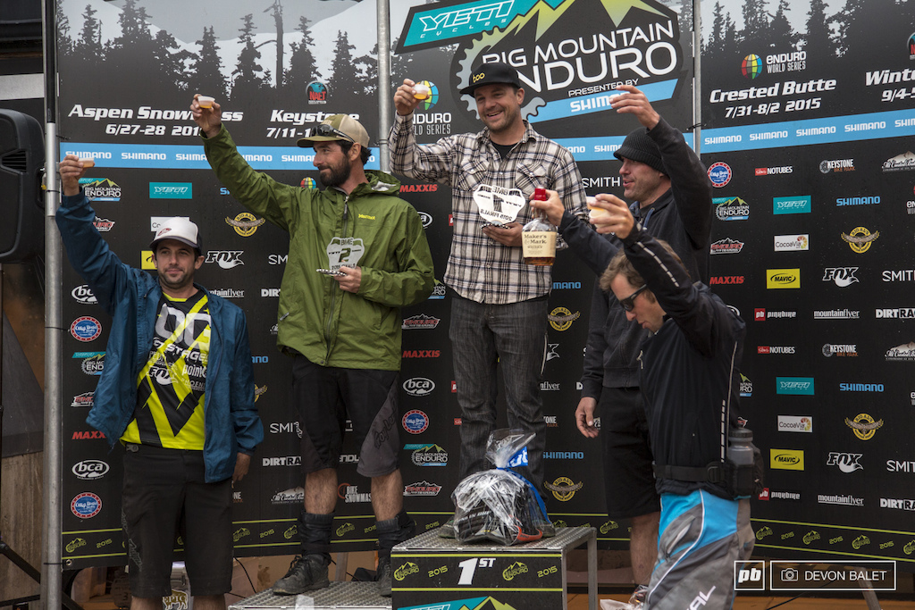 The Vet Men 30 Series Overall Podium gave a cheers to Will Olson whom was in third overall coming into this race. Cheers to you Will.