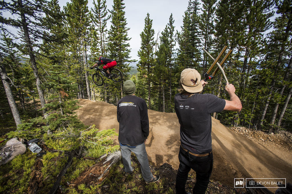 The Trestle Bike Park crew was out in full force for day one set up in key heckle spots.