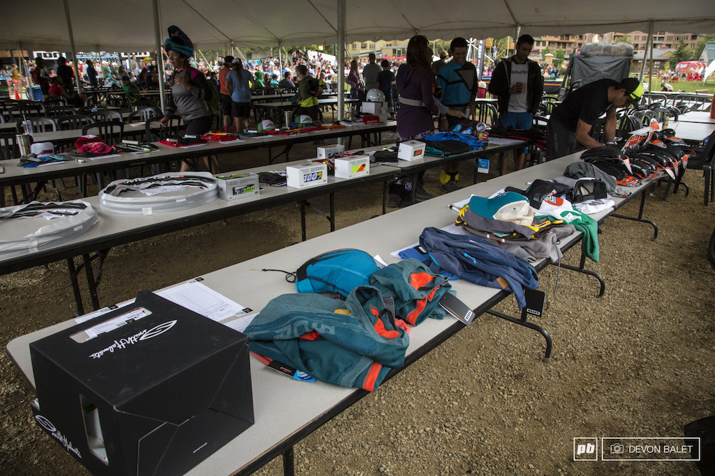 Big Mountain Enduro held a silent auction to help raise funds for the Will Olson Memorial Fund. Sponsors for the series stepped up big filling tables of product for auction all to help our friend.