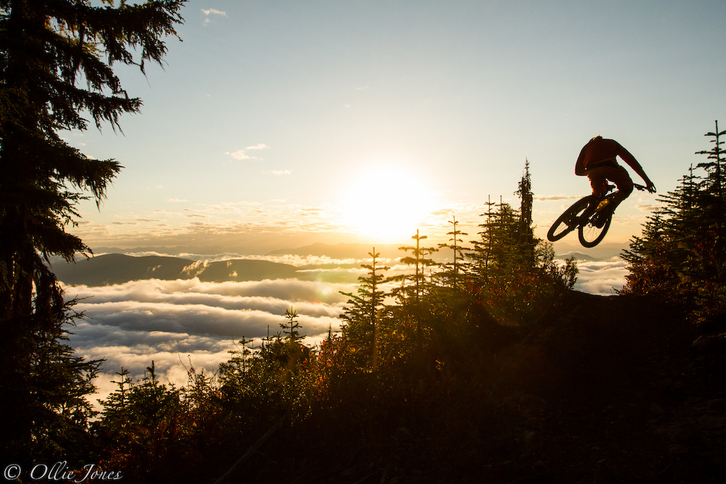 Getting above the clouds in Rossland BC for sunrise