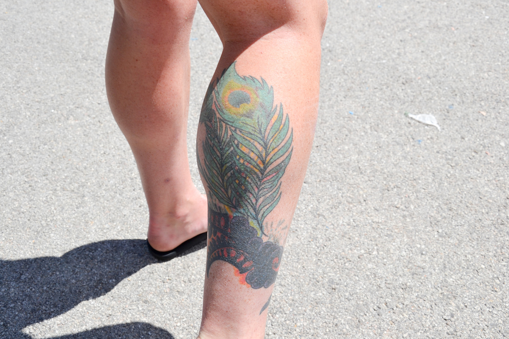 This tattoo may have been inspiration for The Squad women s goggle design.
