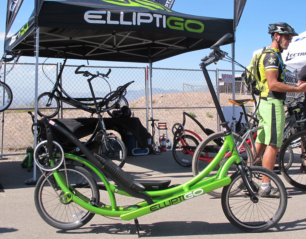The ElliptiGO breaches worlds between cycling and a late night infomercial.