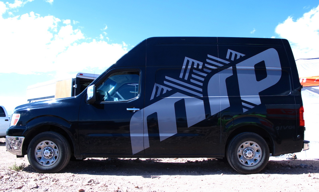 MRP has a fresh little Nissan box van to carry their Demo program to festivals around North America. Keeping your chains on and you riding longer.