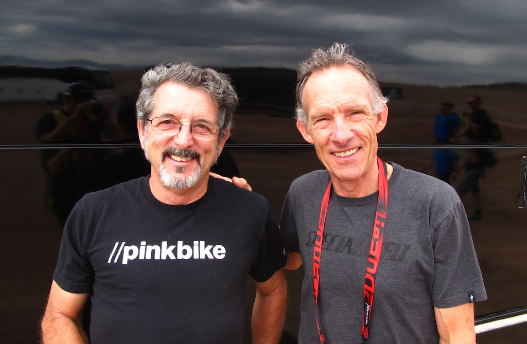 RC and Ned at the Outdoor Demo on day two of Interbike 2015.