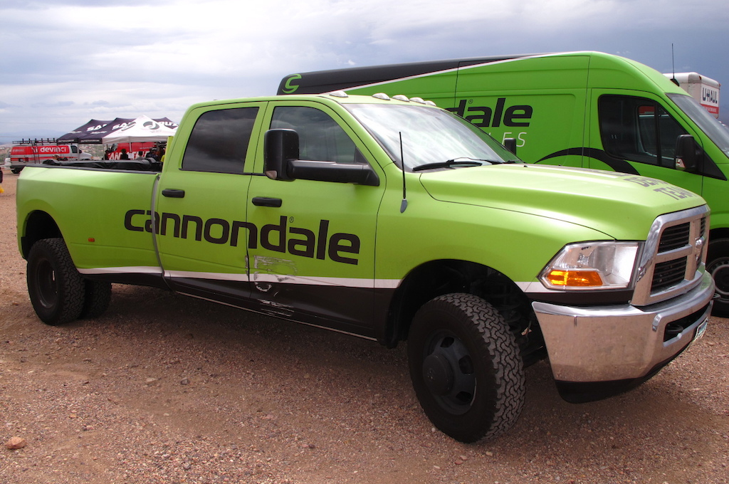 The Cannondale truck was showing signs of road rash.