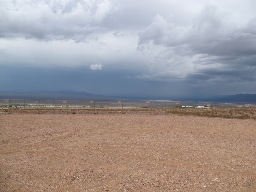 You could see the weather rolling in from a long ways off. It doesn t rain often in the desert but when it does it hits hard.