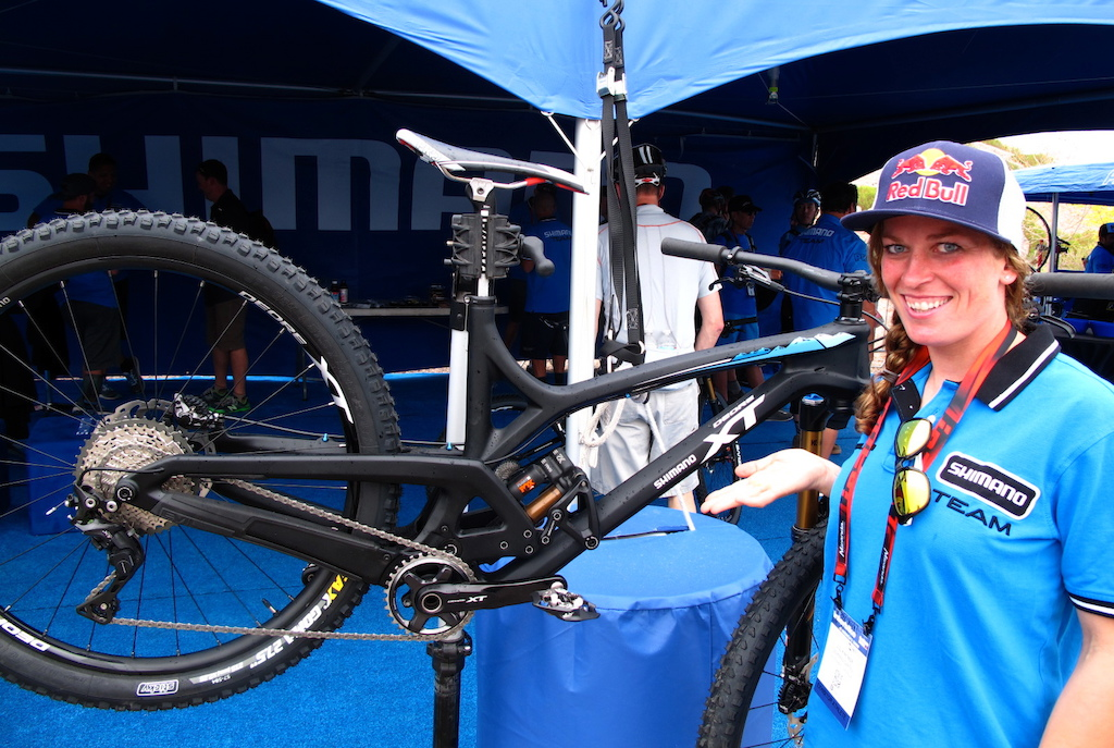 Shimano had a handful of athletes on hand today to talk to media and shops. Jill ran through the new XT line up with us.