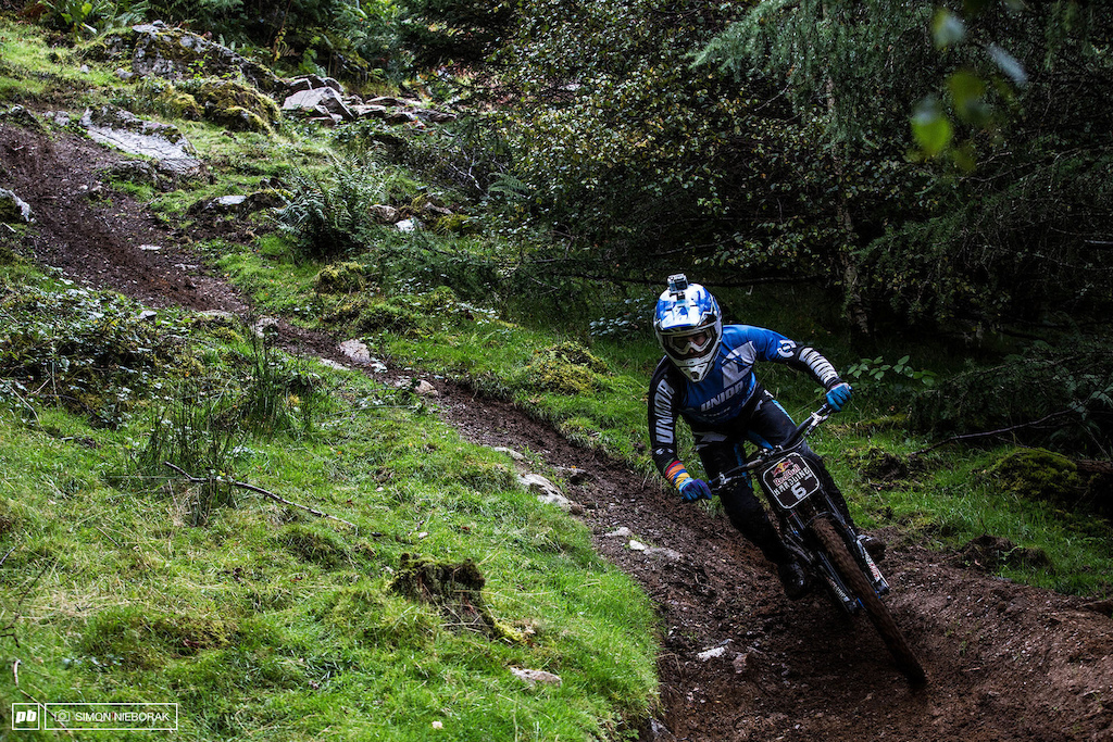 Ruaridh Cunningham on his race for the win.