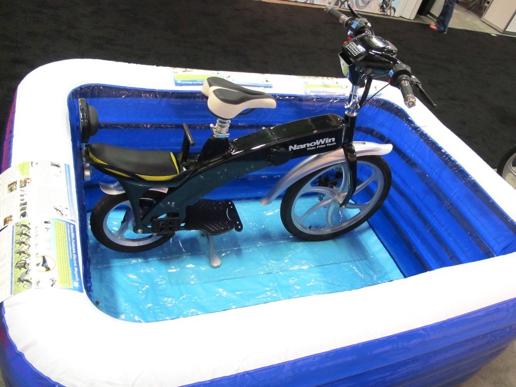 Electric moped in a pool