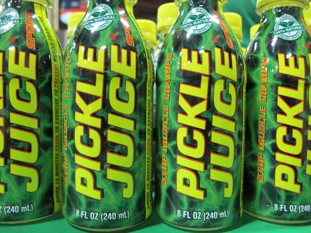 Do you Cramp Maybe you need some Pickle Juice.
