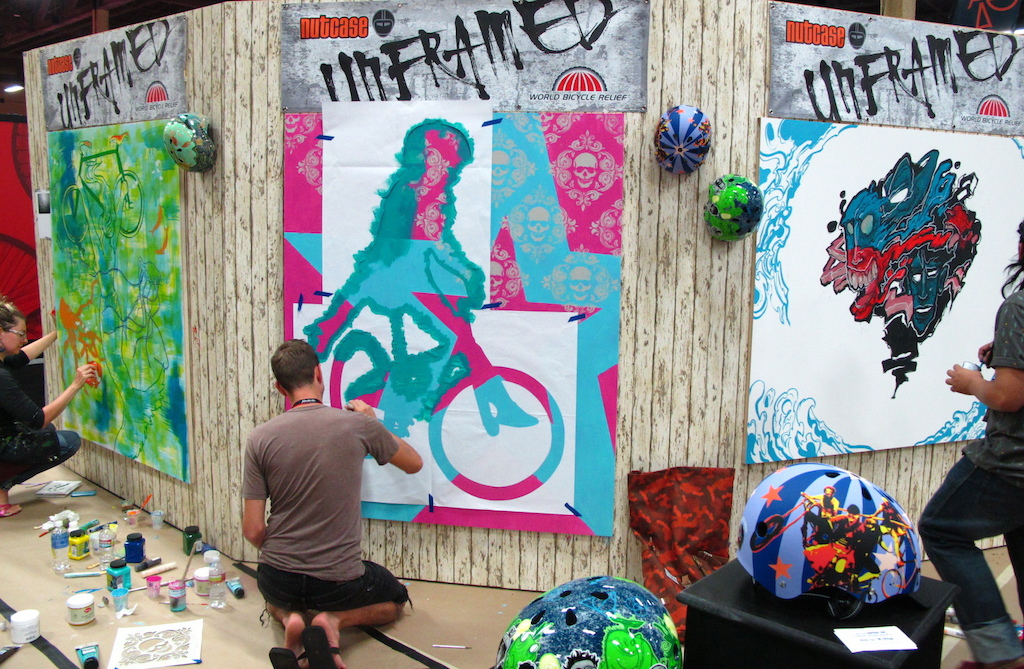 Nutcase and World Bicycle Relief partnered up and had 3 artists from 3 different continents on hand doing some pretty cool murals.
