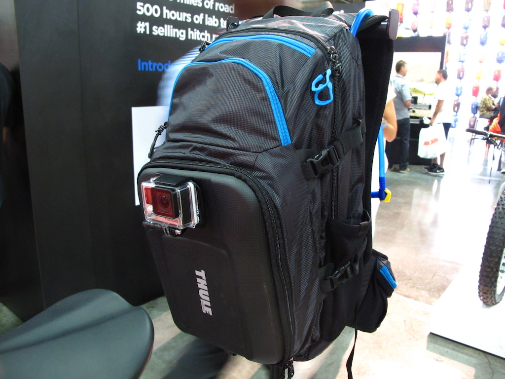 The Thule backpack has a cool attachment on the rear for your POV camera.