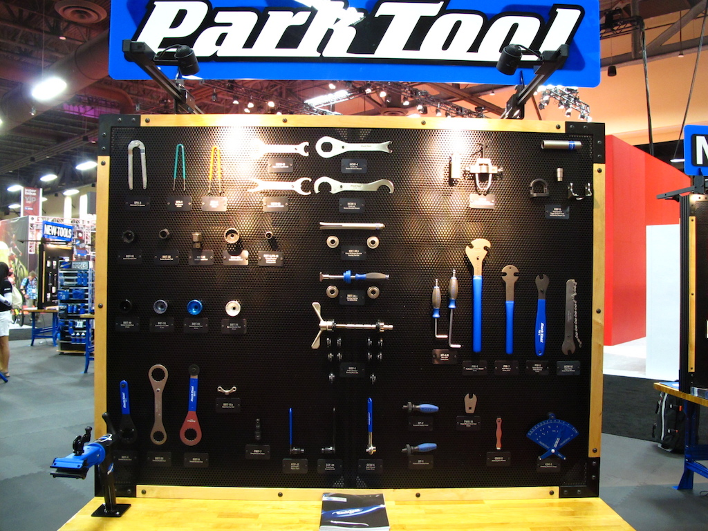 The inner mechanic in me gets stoked around all the Park tools on display.