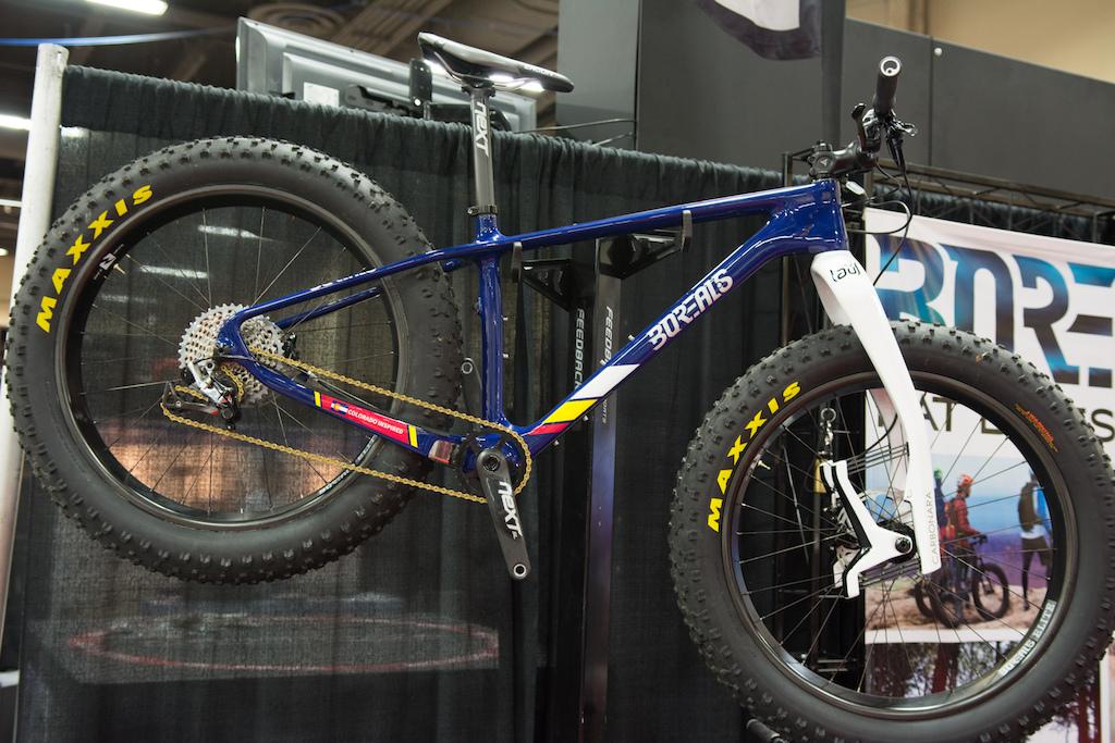 Borealis carbon fat bike with Lauf suspension fork.