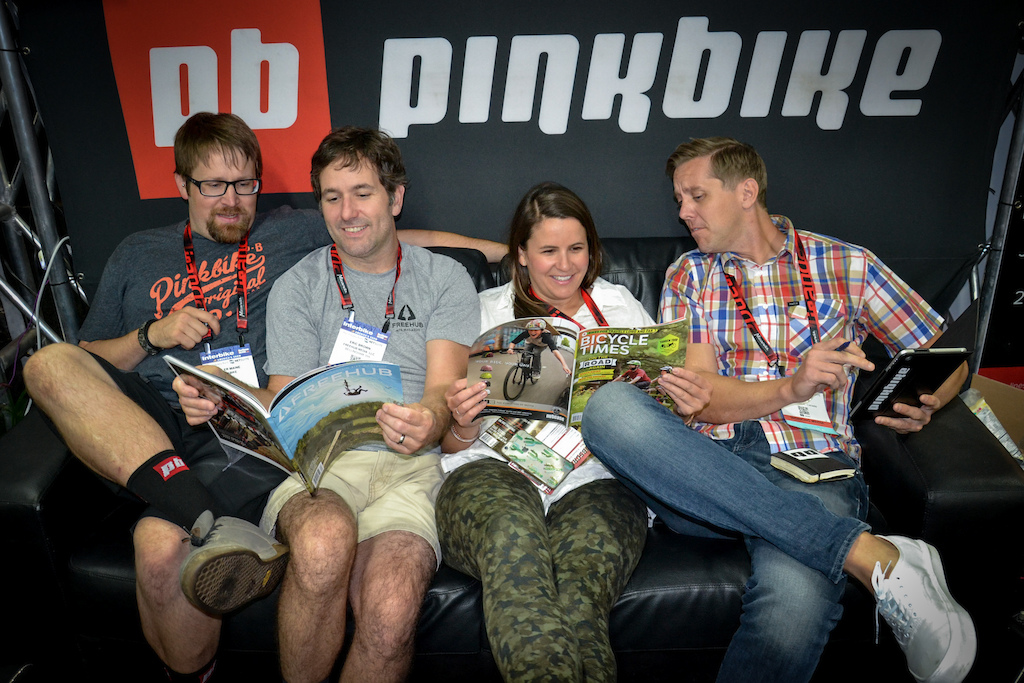 Everyone just getting along and having a time at the PB booth.