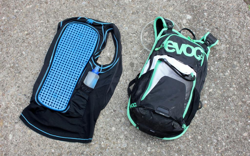 Bliss ARG day vest or EVOC Stage pack.
