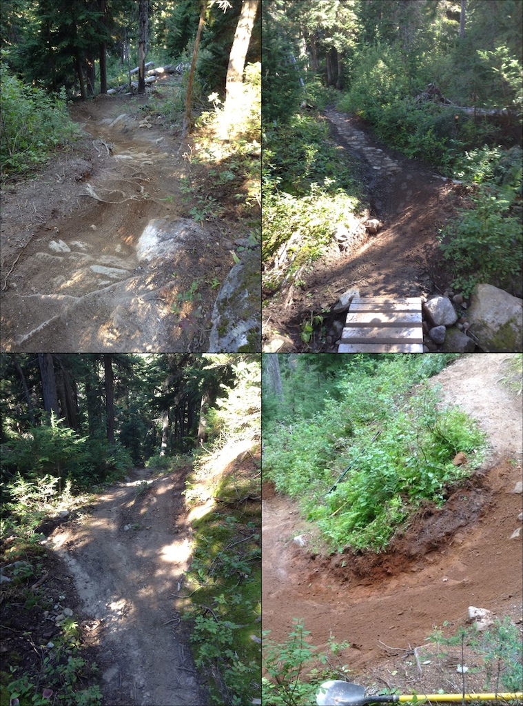 Fresh trail work