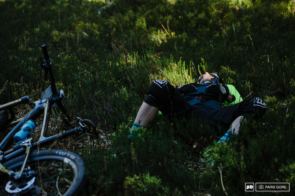 Lars Sternberg sacked out after stage 7.