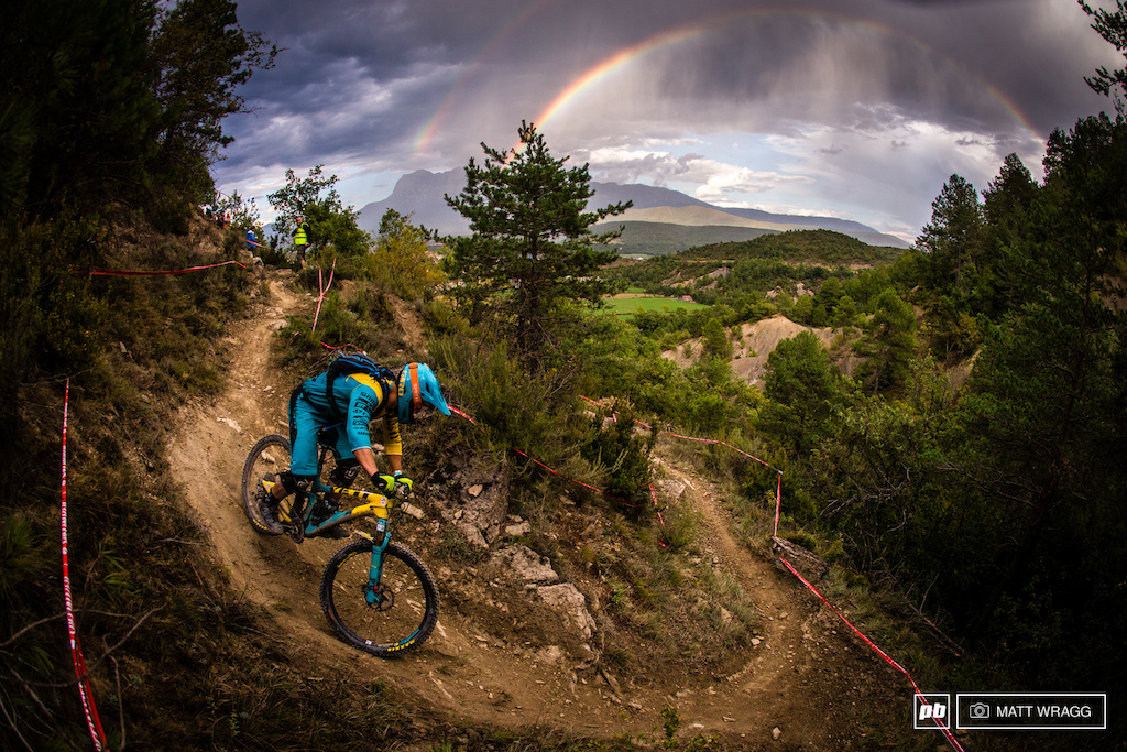 Double rainbows for a rider seemingly on his way to the world champion s stripes... As his rivals faultered Richie Rude is starting to look unstoppable.