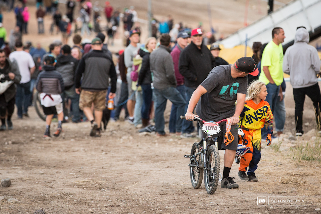 Always great to see young riders getting pumped on Dual Slalom.