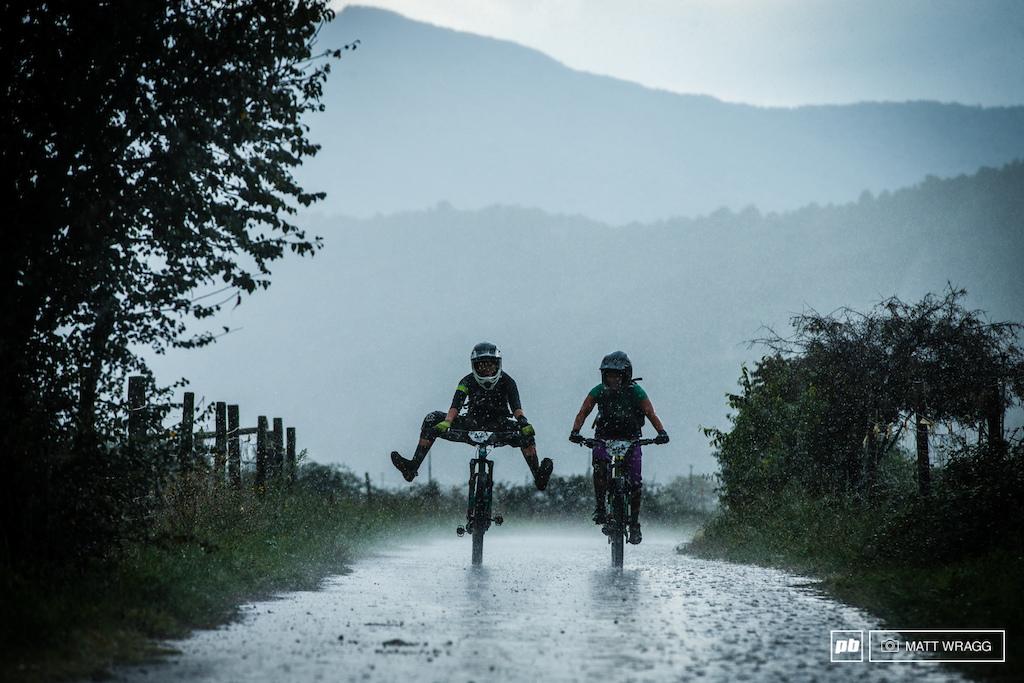 Despite the biblical rainfall, riders were still enjoying themselves.