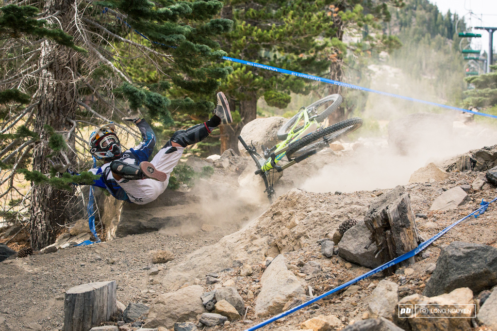 Essence Barton took a big fall at the end of Stage 4. But even with the crash she went and took the win in Pro Open Women.