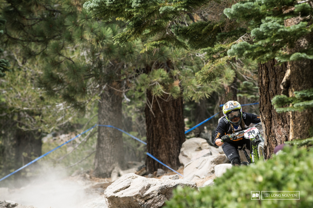 Also a tough weekend for Amy Morrison but she charged through it. She took home 2nd place at the Kamikaze Bike Games and won the overall in the California Enduro Series.