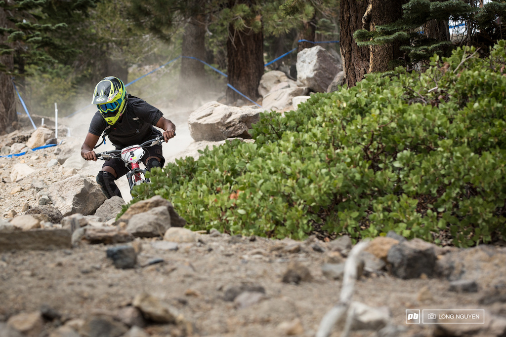 Cody Johnson does it all racing Downhill and Dual Slalom this weekend.