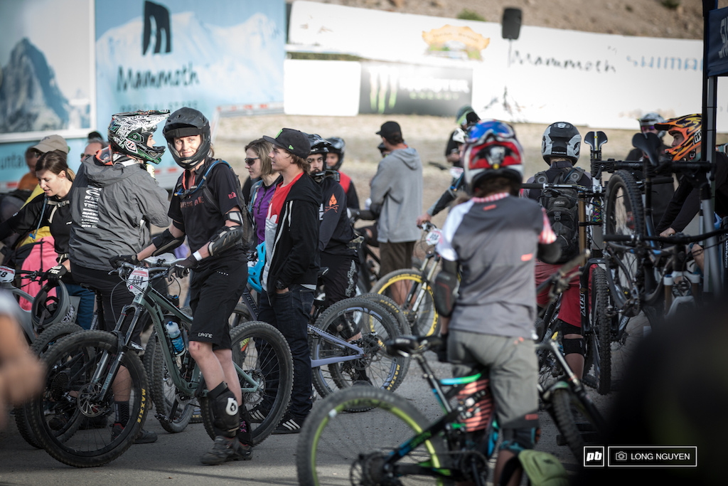 Last day here at the Kamikaze Bike Games.Pro and Expert riders prepare to head up the mountain as the first rider is set to drop at 8am.