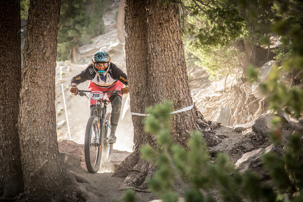 Brianne Speirch on stage 1 during her race run.  Photo by Called to Creation
