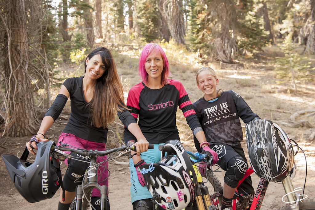 The ladies take a break after a full day of intense riding while filming the first episode of 