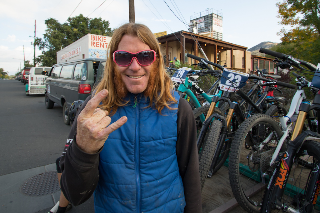 Personality style rock N roll and a love for mountain biking is very much accepted in Salida. Our shuttle driver Dave has it all.
