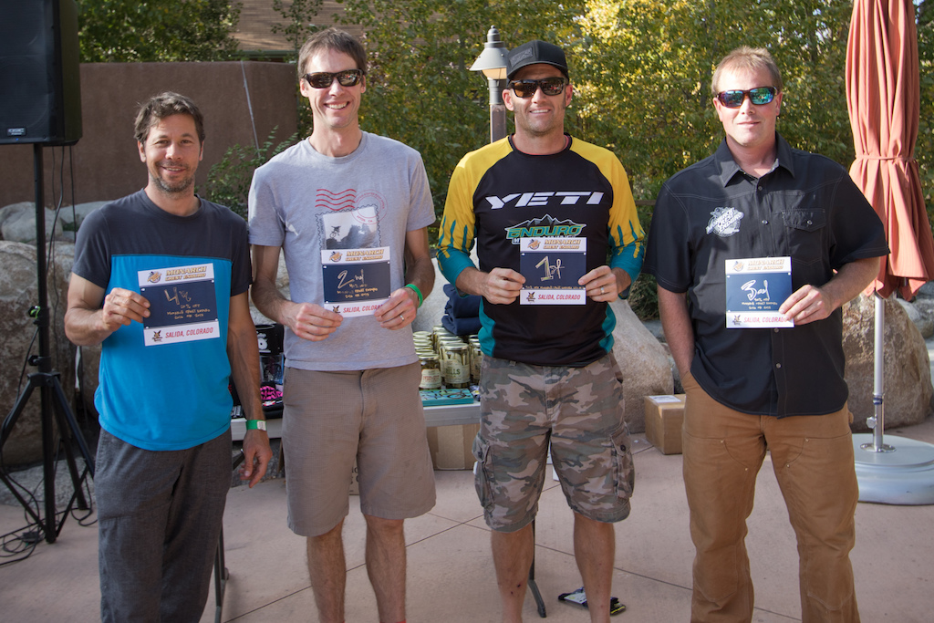 Amateur Men 40 1.Dee Tidwell 2. Jonathan Fox 3. Greg Deem 4. David Ziegler