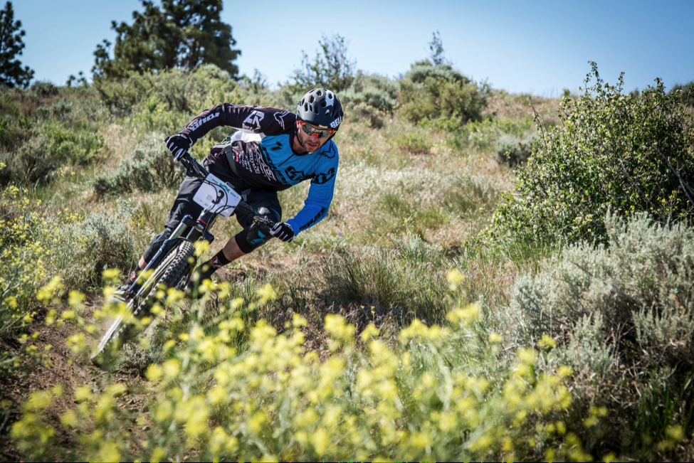 Casey Coffman got low at the Battle Born Enduro. Photo by Called to Creation