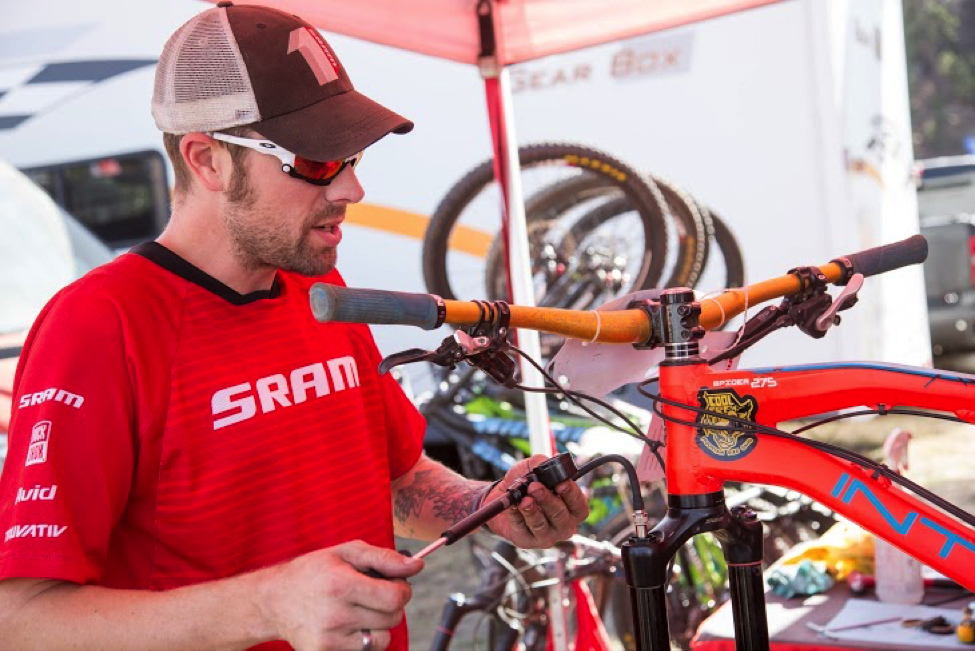 The SRAM team was on hand the entire series ensuring that riders with and without SRAM components had their gear tuned. Photo by Called to Creation